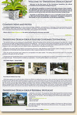 Free Online E-newsletter publishing template for small businesses in Maryland