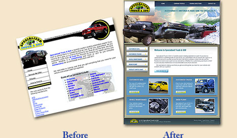 Complete Website Design make-over for small businesses in Maryland