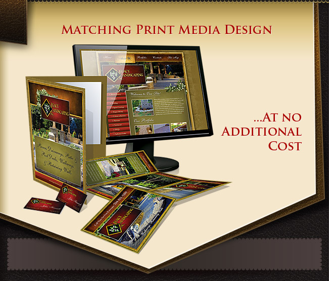 Custom website design packages for small businesses including print media design